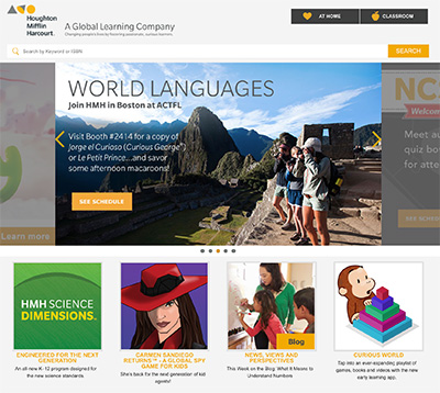 Houghton Mifflin Harcourt Web Site Screenshot